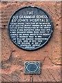 SP3379 : Old Grammar School Plaque by David Dixon