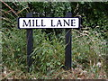TM3083 : Mill Lane sign by Adrian Cable