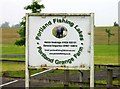 SK7644 : Portland Fishing Lakes sign by Andrew Tatlow