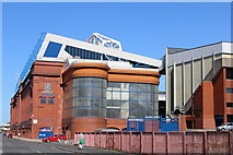 NS5564 : Ibrox Stadium, Edmiston Drive by Leslie Barrie