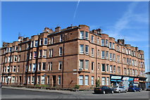 NS5564 : Corner of Harrison Drive & Copland Road, Glasgow by Leslie Barrie