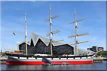 NS5565 : Tall Ship 'Glenlee' & Riverside Museum, Glasgow by Leslie Barrie