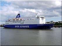 NZ3668 : 'Princess Seaways' passing up the River Tyne by Andrew Curtis