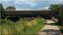 TL3414 : A10 bridge over the Lea near Ware by Malc McDonald