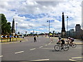 TQ3078 : RideLondon route at junction of Lambeth Bridge and Millbank by PAUL FARMER