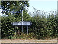 TG2800 : Roadsigns on the B1332 Norwich Road by Adrian Cable