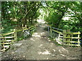SJ3601 : Bridleway bridge over the Hogstow Brook by Richard Law