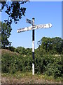 TM2693 : Roadsign on the B1527 Hempnall Road by Adrian Cable