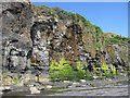 NZ8513 : Rock strata, Sandsend by Pauline E