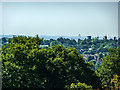 TQ2989 : London View from The Terrace, Alexandra Palace, London N22 by Christine Matthews