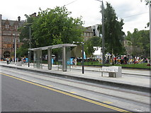 NT2574 : Tram stop, St Andrew Square by M J Richardson