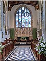 TM0533 : St Mary's Church Dedham, Chancel and East Window by David Dixon