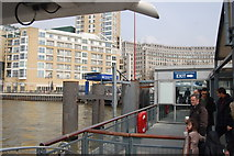 TQ3680 : Canary Wharf Jetty by Trevor Harris