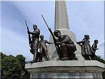 SJ3384 : Detail on War Memorial by Richard Hoare