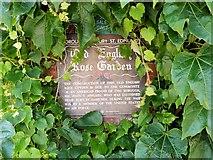 TL8564 : Old English Rose Garden, Appleby Plaque by David Dixon