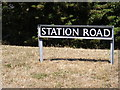 TM3491 : Station Road sign by Adrian Cable
