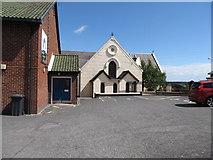 J4569 : Comber First Presbyterian Church viewed across the car park by Eric Jones