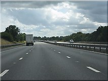 SP4795 : M69 motorway south of Stanton Road bridge by Peter Whatley