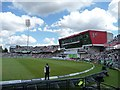 SJ8195 : South side of Old Trafford cricket ground by Christine Johnstone