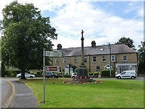 NZ1164 : Wylam village green and War Memorial by Russel Wills
