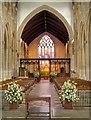 TL9149 : Lavenham Church, Interior by David Dixon