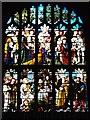 TL9149 : Lavenham Church Stained Glass Window (1) by David Dixon