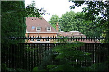 TQ1461 : Security on the Oxshott residential estate by Hugh Craddock