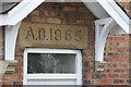 SJ8698 : Date stone on the lock keeper's cottage by Alan Murray-Rust