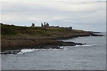 NU2520 : Coastline from Craster harbour by DS Pugh