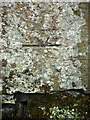 SD3784 : Bench mark at Hazel Rigg by Karl and Ali