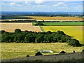 SU1476 : View north from Barbury Castle, Swindon by Brian Robert Marshall