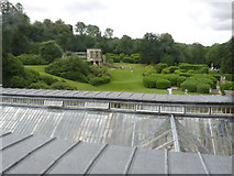SK8932 : View of the garden terraces by Alan Murray-Rust
