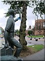 SP3379 : Coventry Boy Outside the Cathedral by David Dixon