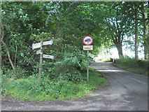 SK1763 : Road junction on Long Rake by Neil Theasby