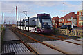 SD3141 : Tram arriving at Little Bispham by Ian Taylor