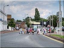 SJ8481 : Wilmslow, Alderley Road by David Dixon