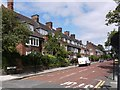 NZ2565 : Eslington Terrace, north of Clayton Road, Jesmond by Andrew Curtis