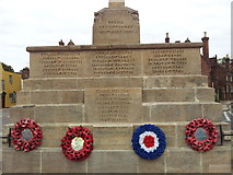TG0738 : Names on the Holt War Memorial 1 by Helen Steed