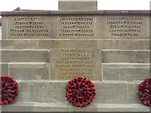 TG0738 : Names on the Holt War Memorial 2 by Helen Steed