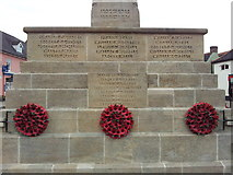 TG0738 : Names on the Holt War Memorial 3 by Helen Steed