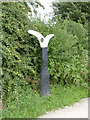 SK8634 : Sustrans Millennium Milepost at Denton (ID 1001) by Alan Murray-Rust