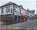 SJ4066 : Parade of shops, Chester style by Bill Harrison