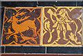 SO6130 : Floor tiles, How Caple church by Julian P Guffogg