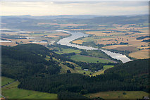 NO1423 : Deuchny Wood and the Tay from the air by Mike Pennington