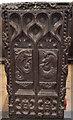 SS2511 : Carved Pew End, Kilkhampton church by Julian P Guffogg