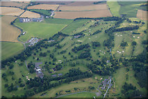NO1525 : Murrayshall Golf Course, near Scone, from the air by Mike Pennington