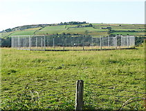 SE0913 : Colne Valley Sculpture Trail #3 (circular fence) by Humphrey Bolton
