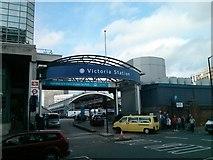TQ2878 : Ecclestone Bridge Road, Entrance to Victoria Station by PAUL FARMER