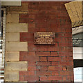 SJ8989 : Plaque in memory of Jim Renshaw, Stockport station by Robin Stott