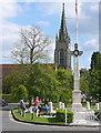 SU8586 : Marlow war memorial and church by Graham Horn